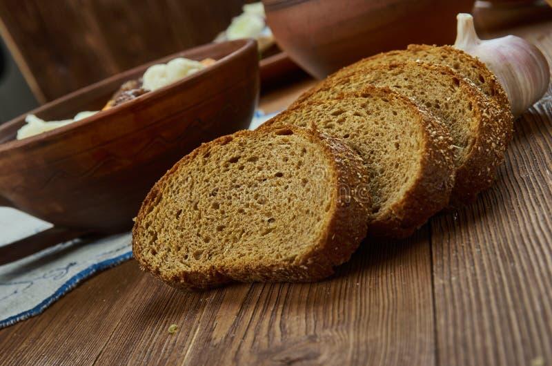 爱沙尼亚家制面包 免版税库存图片