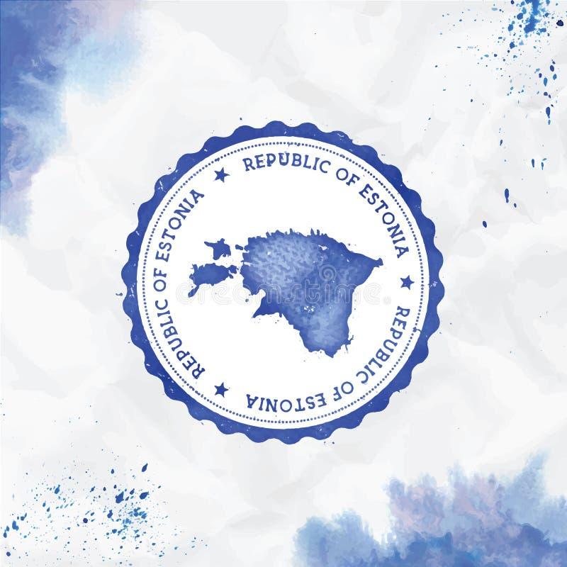 爱沙尼亚水彩圆的不加考虑表赞同的人与 向量例证