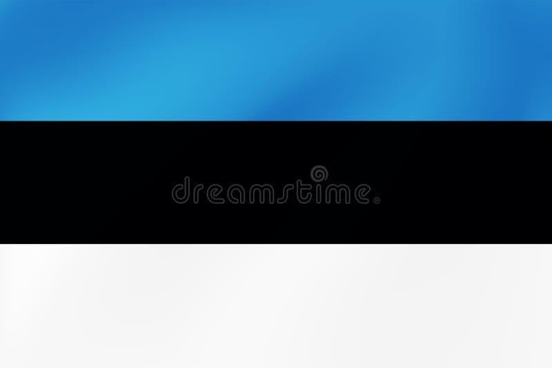 爱沙尼亚的国旗,波儿地克,波浪纹理-传染媒介例证假日,旅行和其他事件 库存例证
