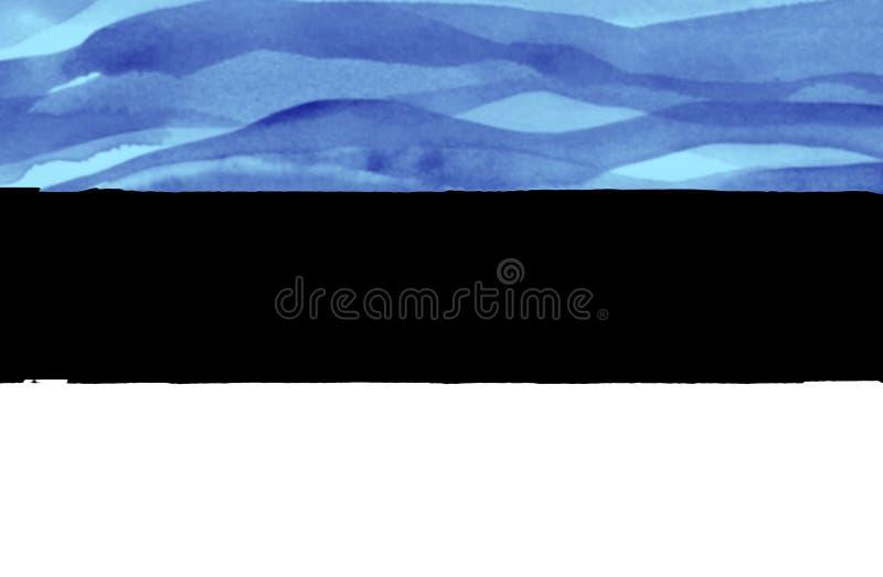 爱沙尼亚的被绘的旗子 免版税图库摄影