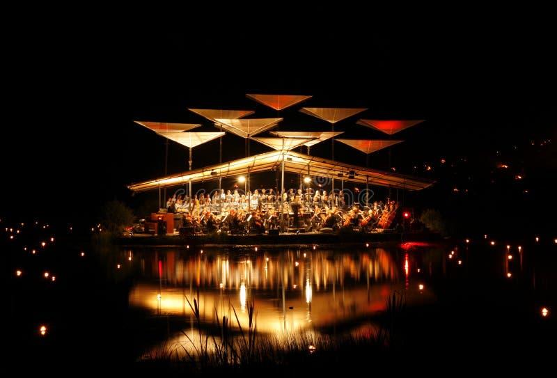 爱沙尼亚节日湖leigo音乐 免版税图库摄影