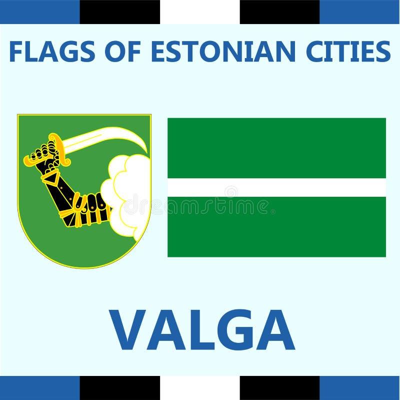爱沙尼亚语城市巴尔加正式旗子  免版税库存照片