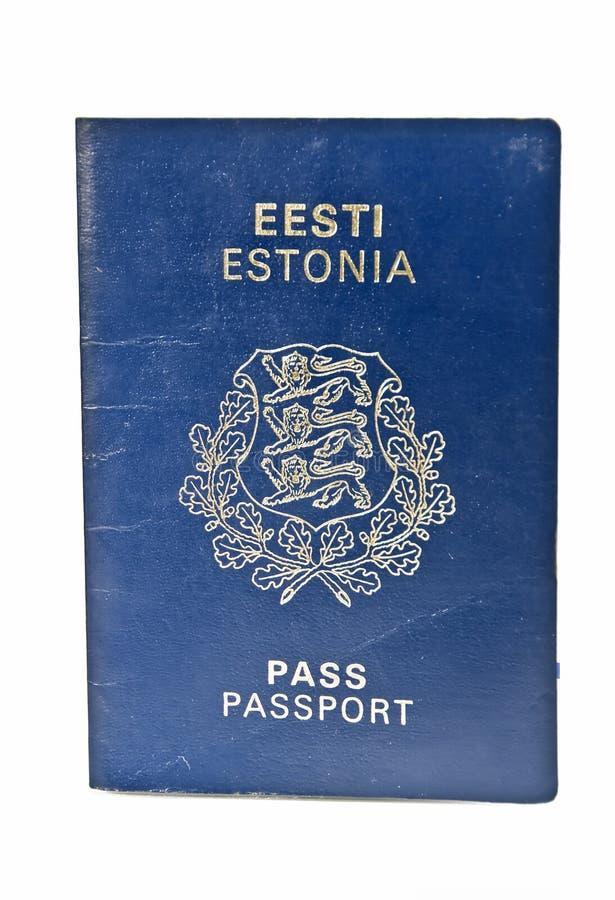 爱沙尼亚语护照 库存照片