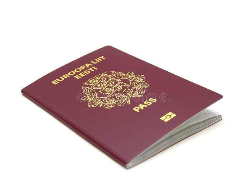 爱沙尼亚语护照 免版税库存照片