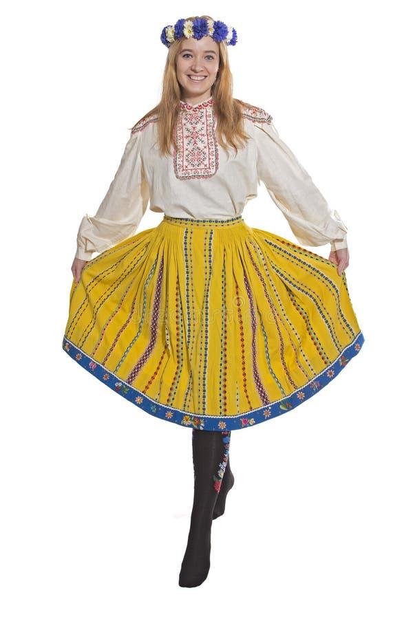 爱沙尼亚语民间衣物 库存图片