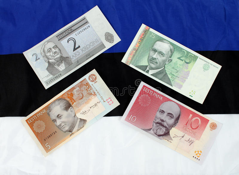 爱沙尼亚语货币 库存照片