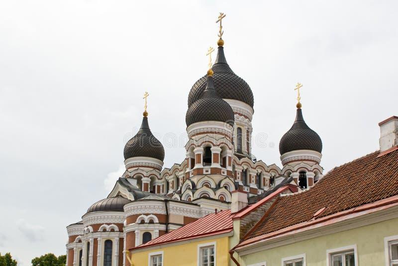 爱沙尼亚,塔林,亚历山大・涅夫斯基大教堂 库存图片