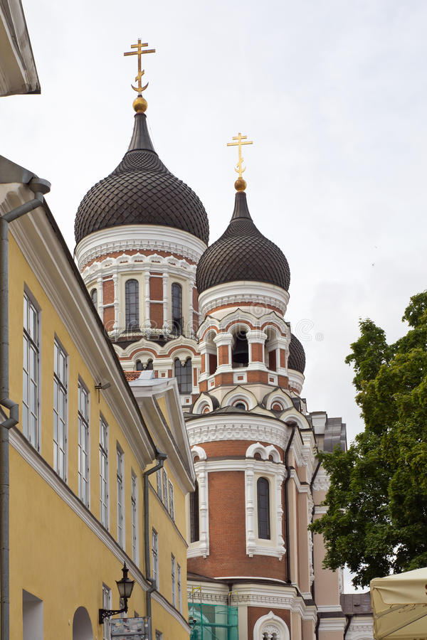 爱沙尼亚,塔林,亚历山大・涅夫斯基大教堂 免版税库存图片