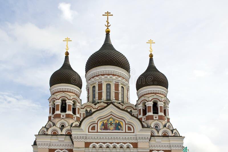 爱沙尼亚,塔林,亚历山大・涅夫斯基大教堂 免版税图库摄影
