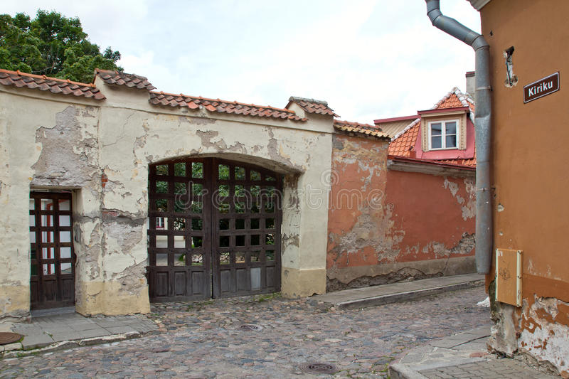 爱沙尼亚,塔林,老镇 免版税库存图片