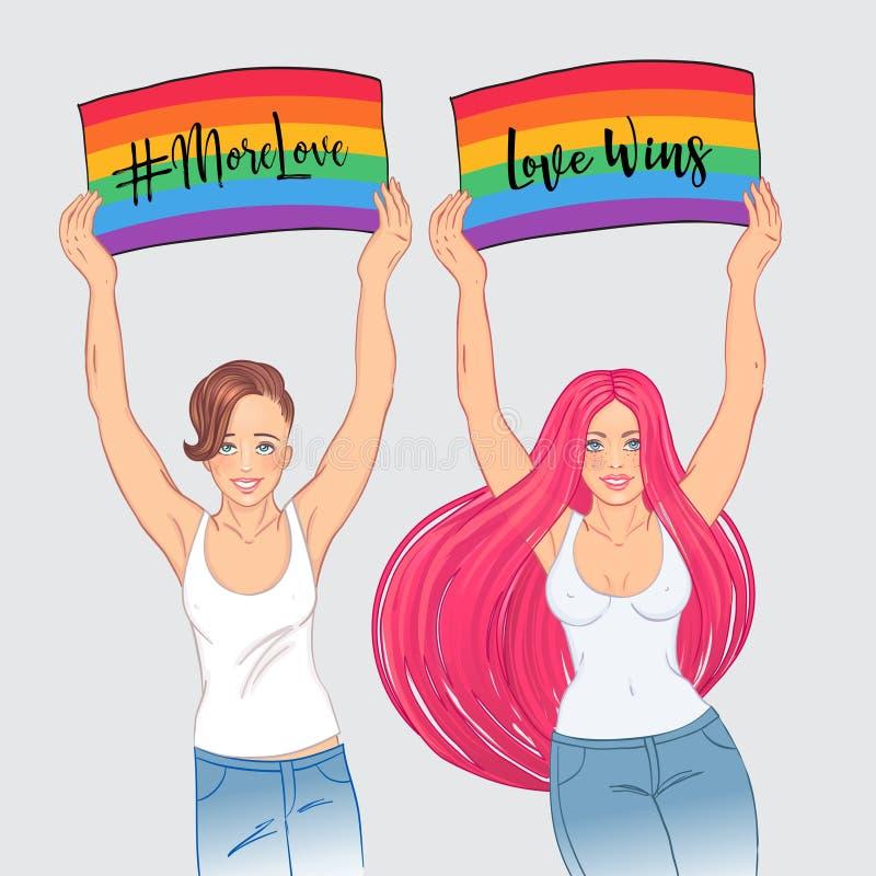 色情女同性恋_插画 包括有 国际, 游行, 演示, 性别, 女同性恋者 - 114746371