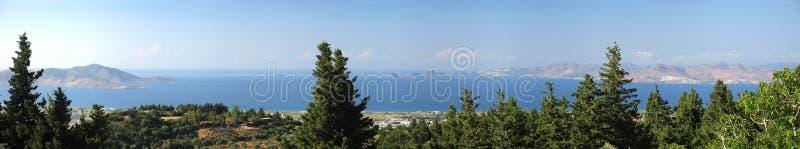 爱琴海全景视图 库存照片