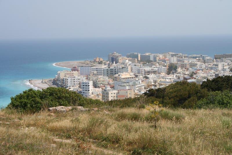 爱琴海希腊rhodos 库存图片