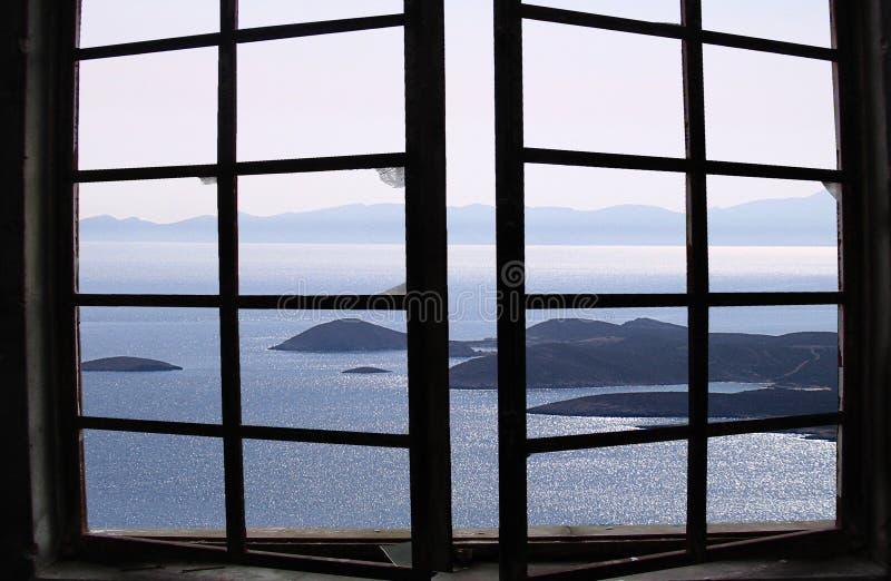 爱琴海视图 免版税图库摄影