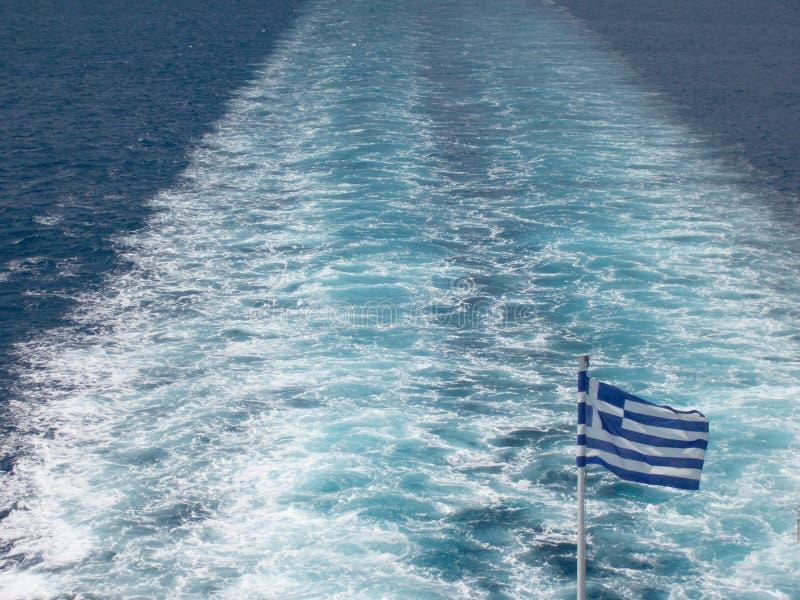 爱琴海轮渡在机上海运 免版税库存照片