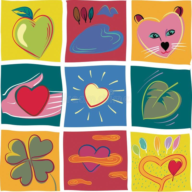 爱的心脏标志, 皇族释放例证