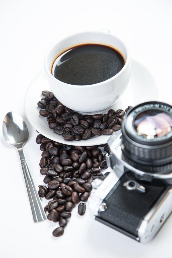 爱的心脏用杯子咖啡 库存图片