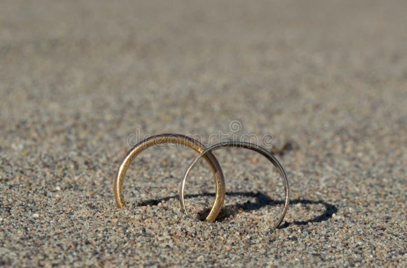 爱的标志在沙漠 免版税库存照片