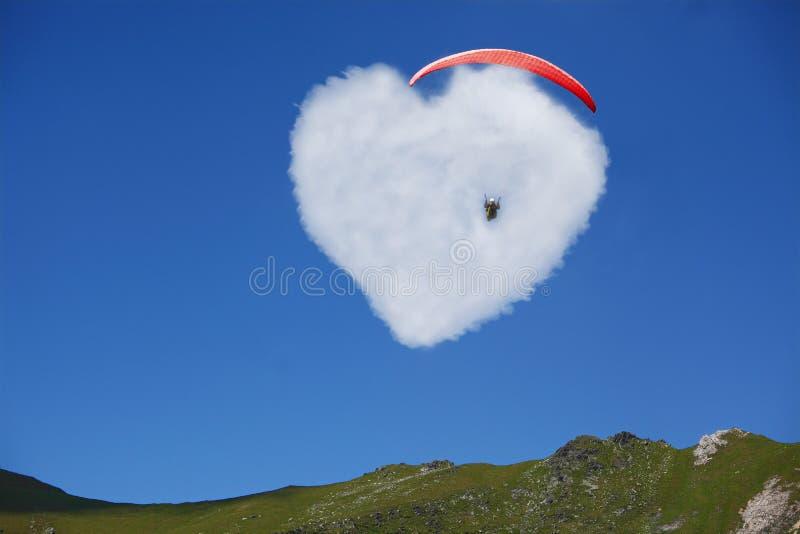 爱的重点在蓝天的 免版税库存照片