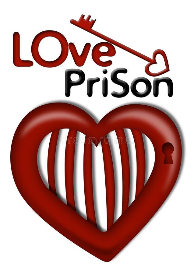爱监狱 向量例证