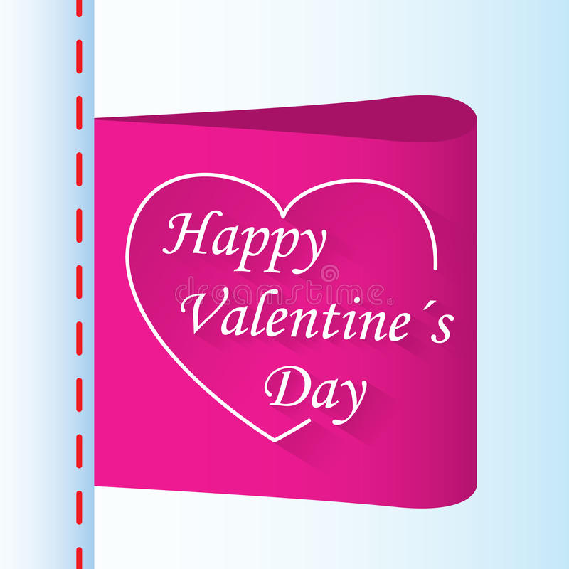 爱礼物与心脏的情人节标签 皇族释放例证