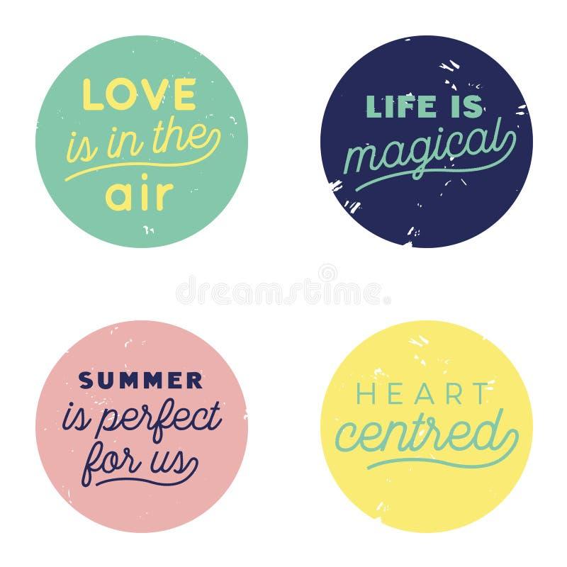 爱空气按钮柔和的淡色彩 库存照片