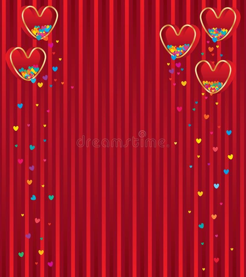 爱箱子红色飞行五颜六色的爱 向量例证