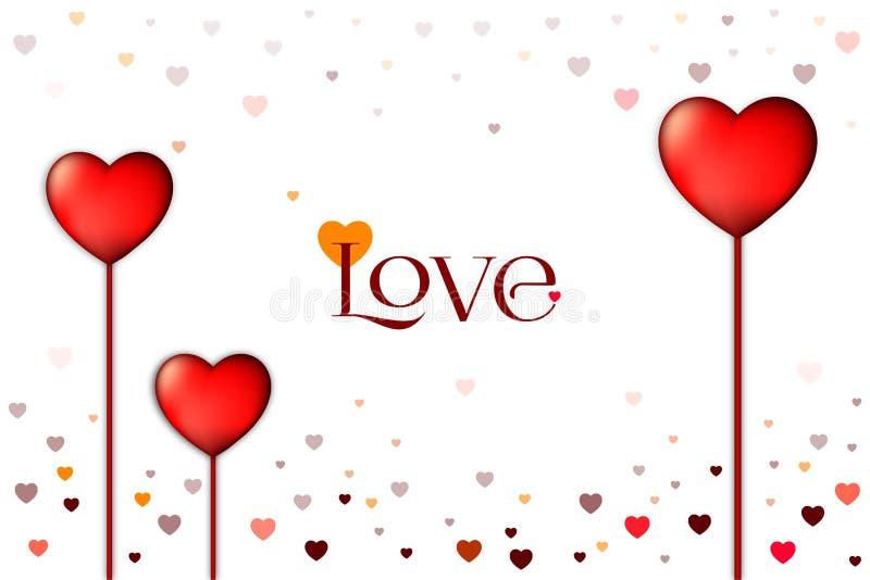 爱背景和白色背景恋人和华伦泰的 特别是为华伦泰卡片和爱卡片 皇族释放例证