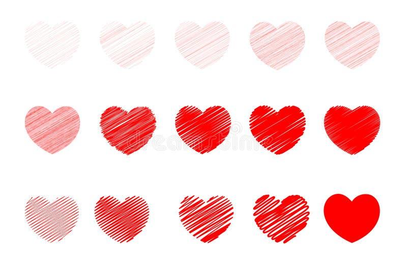 爱背景并且爱恋人和华伦泰的象 特别是为华伦泰卡片和爱卡片 向量例证