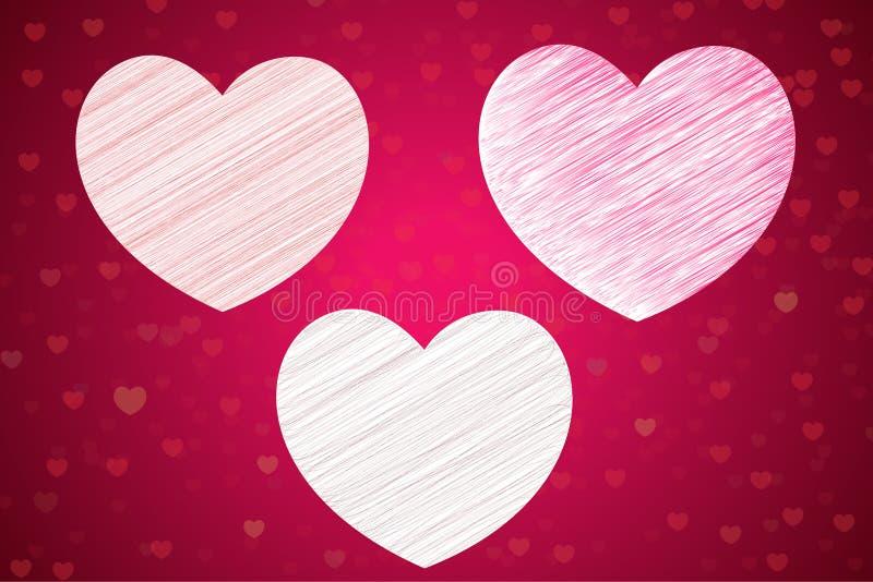 爱背景并且爱恋人和华伦泰的象 特别是为华伦泰卡片和爱卡片 皇族释放例证