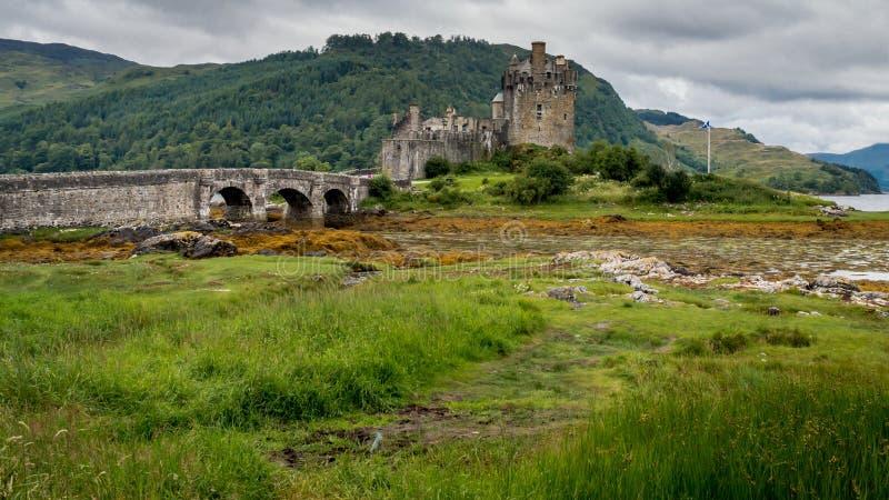 爱莲・朵娜城堡,海湾Duich, Scotish高地 库存照片