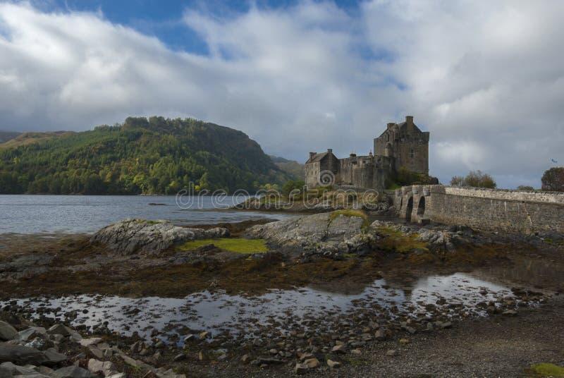 爱莲・朵娜城堡,海湾Duich,苏格兰,英国 免版税库存照片