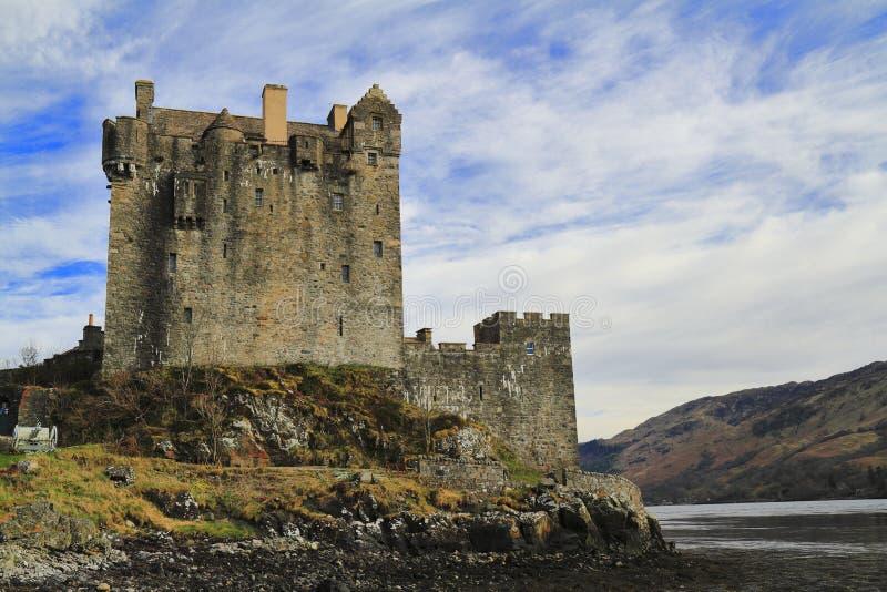 爱莲・朵娜城堡,苏格兰的西部高地 图库摄影