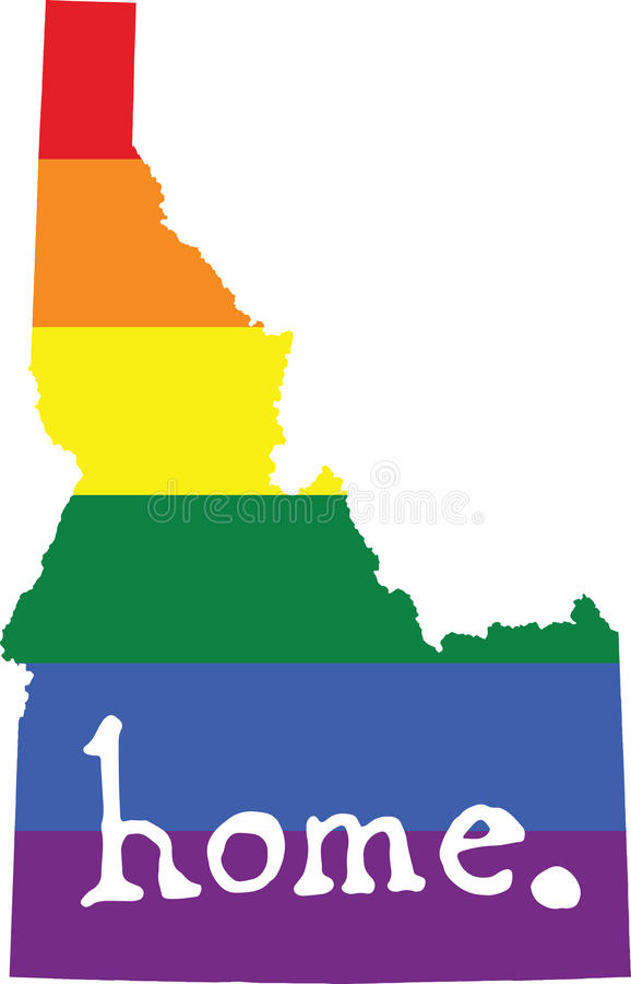 爱达荷家庭同性恋自豪日传染媒介状态标志 皇族释放例证
