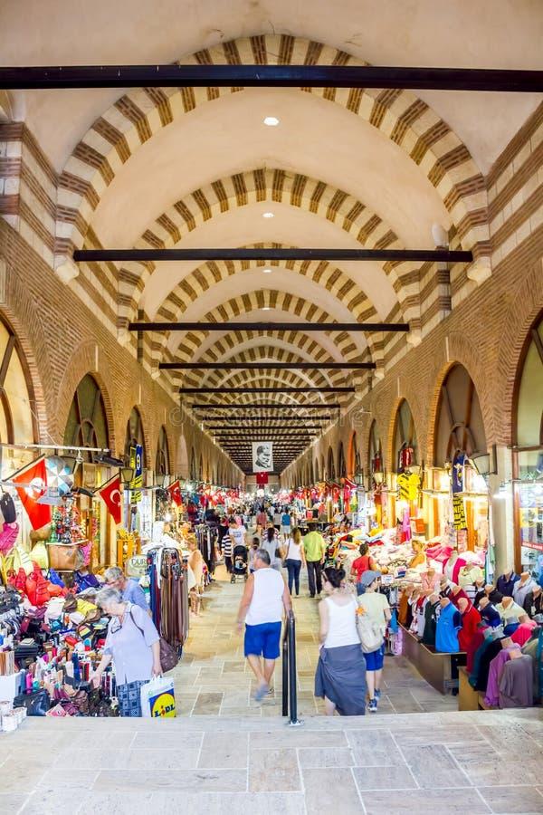 爱迪尔内,土耳其阿里・帕夏・塔帕雷奈义卖市场  免版税库存照片