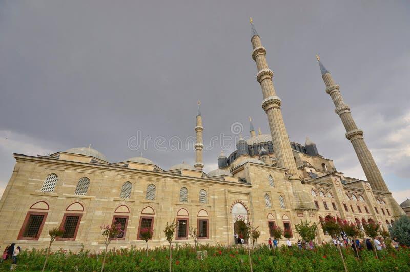 爱迪尔内Selimiye清真寺在土耳其 免版税图库摄影