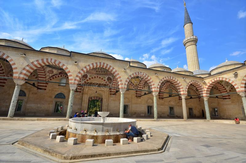 爱迪尔内Selimiye清真寺在土耳其 免版税库存照片