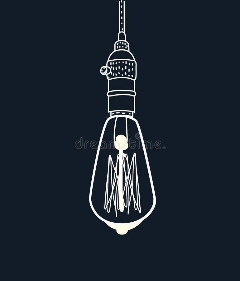 爱迪生电灯泡的传染媒介图画 皇族释放例证