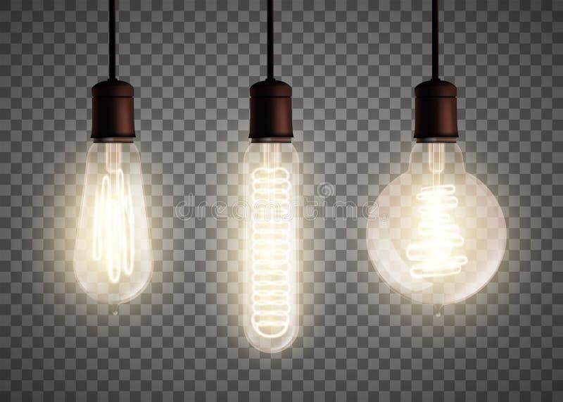爱迪生电灯泡 皇族释放例证