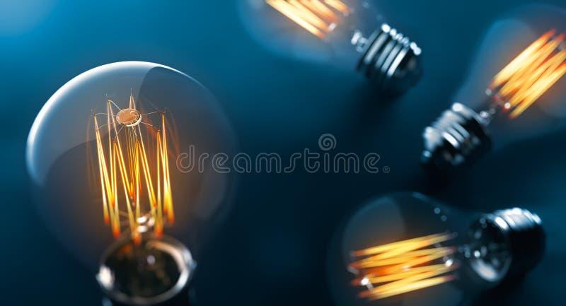 爱迪生电灯泡 库存例证