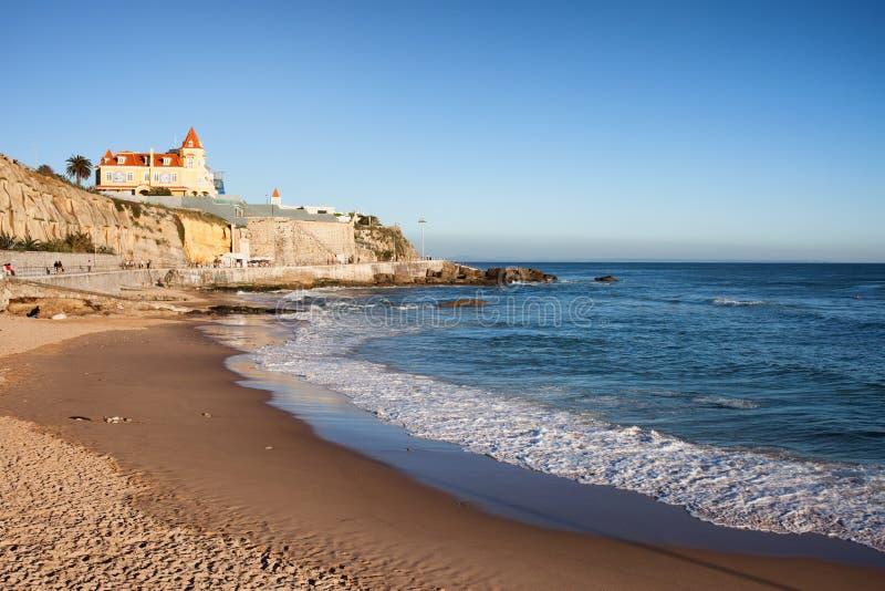 爱都酒店海滩在葡萄牙 图库摄影