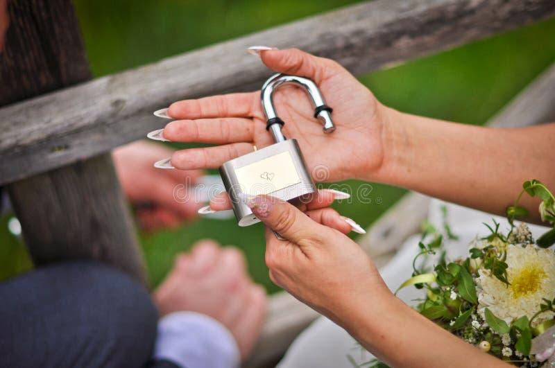 爱锁 库存图片