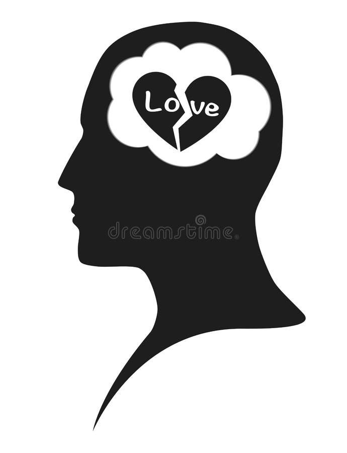 爱问题在人脑里 库存图片