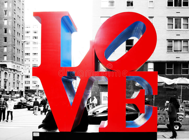 爱雕塑在纽约 库存图片
