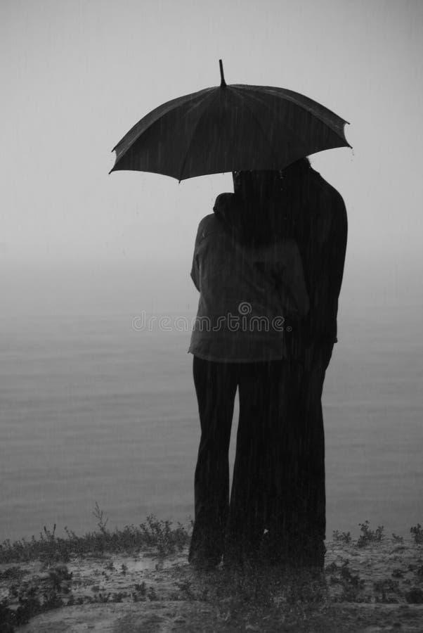 爱雨 免版税库存照片