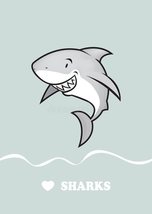 爱鲨鱼 皇族释放例证