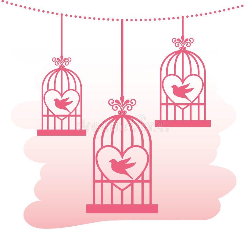 爱鸟和结构树 皇族释放例证
