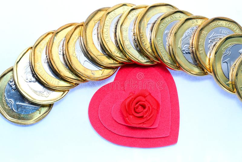 爱货币 免版税图库摄影