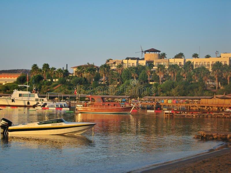 爱琴海在博德鲁姆市 图库摄影