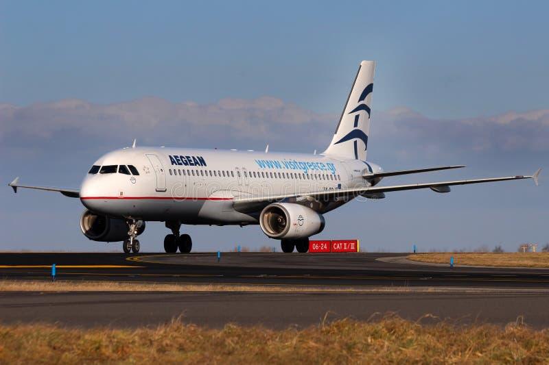 爱琴海航空公司 免版税库存照片